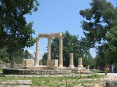 Among the ancient ruins in Katakalon, Greece