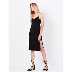 Womens Fitted Stretchy Sleeveless Bodycon Midi Slip Dress with High Slit Midi Dress With Slit, Minimal Dress, Night Out Outfit, Classy And Fabulous, Sexy Dresses, Summer Outfits, Cold Shoulder Dress, Stretchy Material, Bleach