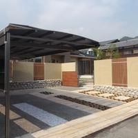 外構工事 駐車スペース カーポート フェンス