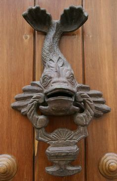 Antique Door Knocker fish