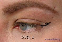 Tutorial: Winged Eyeliner for Hooded Eyes – The Makeup Moth Hazel Eye Makeup, Korean Eye Makeup, Eye Makeup Steps, Eye Makeup Art, No Eyeliner Makeup, Blue Eye Makeup, Smokey Eye Makeup, Makeup Tips, Daily Makeup