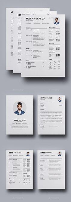 2 Pages Resume by Estartshop on @creativemarket Resume  Personal