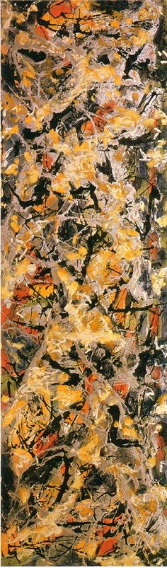 Jackson Pollock vertical abstract #jackson #pollock Jackson Pollocks abstract artwork is incredible.