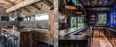 From distressed wood to stone and brick, discover the top 70 best rustic bar ideas. Explore cool vintage home interior designs for sipping down drinks. Mini Bar At Home, Bars For Home, Vintage Interior Design, Home Interior Design, Rustic Basement, Home Bar Designs, Basement Remodeling, Basement Ideas, Built In Cabinets