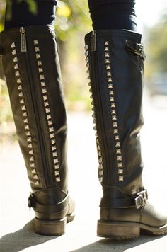 0e579f08c Starting Something Studded Back Knee High Riding Boots - Black from  Breckelles at Lucky 21 - I own these and love em, super comfy!
