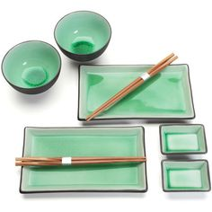 Green Two Person Sushi Serving Set | Everything Sushi! | Quality Sushi Making Tools, Supplies & Utensils