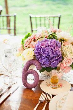 centro de mesa boda hortensias - Buscar con Google