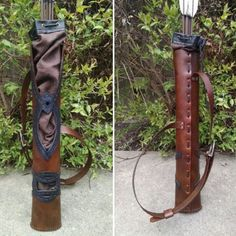Leather Ranger quiver, archery arrow quiver, lord of the rings inspired, made and sold by folkofthewood on etsy