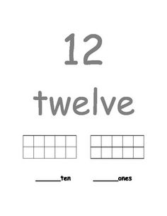 Number Book 11-20 - Trace number and number word, fill in ten frame, and write the correct number of tens and ones - 11 pages - $