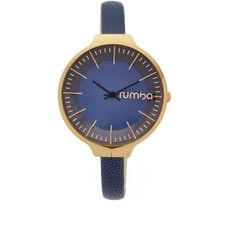 RumbaTime Orchard Leather Midnight Blue Watch (876.410 IDR) ❤ liked on Polyvore featuring jewelry, watches, water resistant watches, leather wrist band watch, leather wrist watch, leather band watches and bezel jewelry