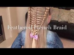 Feathered French Braid tutorial by Two Little Girls Hairstyles - YouTube