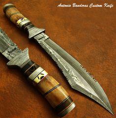 Antonio Banderas MARVELOUS 1-OF-A-KIND CUSTOM DAMASCUS BOWIE KNIFE FOSSIL GIRAFE | eBay
