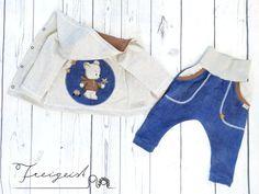 Bio Set Regenbogenbärli - Gr. 80 :: Freigeist - kreatives Handwerk Shoulder, Baby, Tops, Fashion, Free Spirit, Creative Crafts, Kids Clothes, Ghosts, Trousers