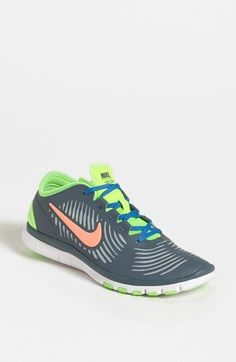 e64d66a3fe2e47 Nike Womens Free Balanza Armory Slate Blue Pink Athletic Running Shoes  armoy slate upper atomic pinnk swoosh green   light blue trim sock lining  lace up ...