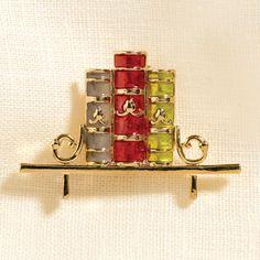 süßer Buch-Anstecker // Books-on-Shelf Pin