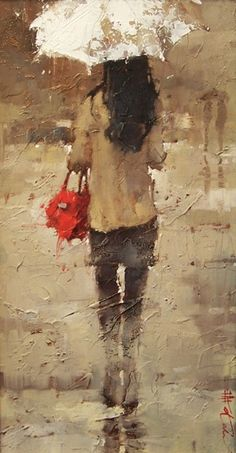 Impressionist artwork by Andre Kohn and other internationally recognized artists. Figurative oil paintings, drawings, sculpture and oversized paintings. Figure Painting, Painting & Drawing, Rain Art, Umbrella Art, Beautiful Paintings, Art World, Figurative Art, Watercolor Art, Photo Art