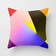 Expressionist Cubes II  Throw Pillow by The Digital Weaver - $20.00