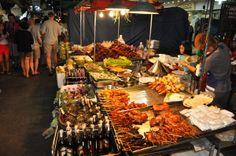 Night market , Thailand