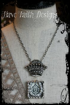 Crown Me necklace by HaveFaithDesigns on Etsy, $55.00