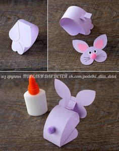 How to Make a Paper Bunny Craft Paper Bobble Head Bunny Craft Easter Arts And Crafts, Easter Crafts For Kids, Spring Crafts, Holiday Crafts, Craft Kids, Kids Diy, Rabbit Crafts, Bunny Crafts, Paper Bunny