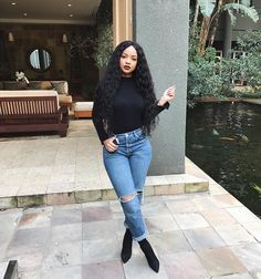 Discover ideas about dance outfits Curvy Outfits, Classy Outfits, Stylish Outfits, Winter Fashion Outfits, Fall Winter Outfits, Summer Outfits, Estilo Fashion, Denim Fashion, Womens Fashion