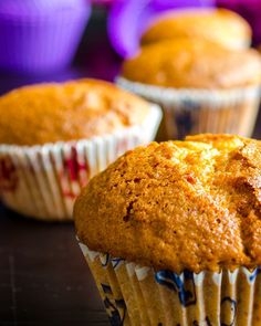 Healthy apple muffins with whole wheat flour and olive oil