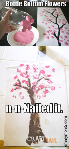 Bottle stamp flowers go just a little wonky with the help of soda . . . #craftfail