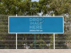 Horizontal Banner Mockup Hanging From a Fence at a School Placeit Stage Image