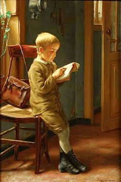 Edgar Farasyn : Child reading