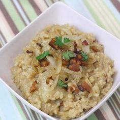 Bacon and Caramelized Onion Risotto recipe