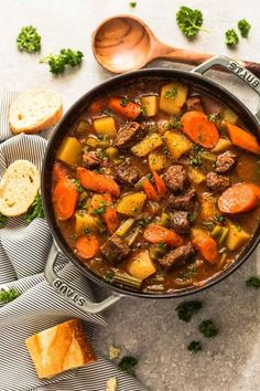 Instant Pot Beef Stew (Homemade Pressure Cooker) makes the perfect comforting dish. Best of all, this one pot meal is full of tender meat & heart vegetables