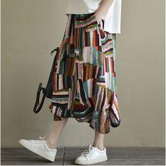 Amber casual printed harem pants  #pants #linendress #overalls #linen #OnePiece #loosepants