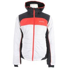 Women's Columbia Shimmer White, Black & Red-Hibiscus Jacket  - Outfitters, Grouse Mountain, Vancouver - Pin It To Win It Contest