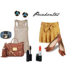Tank + skirt = so cute!