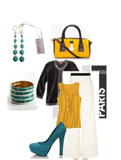 """Mustard & Teal"" by bernzz on Polyvore"