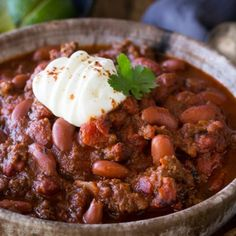 Instant pot Chili - made with ground beef, good for any pressure cooker, healthy and gluten free too!