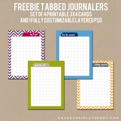 A Vegas Girl at Heart: Freebie Friday: Tabbed Journalers