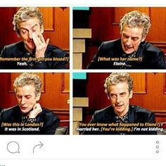 Capaldi is literally the best example of a gentlemen I wish to marry! Loves his wife and loves to make us all go AWWW