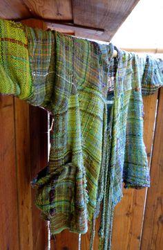 Saori hand woven jacket Parrots of Telegraph by saorisantacruz, $885.00