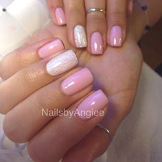 Image result for pink gel nails