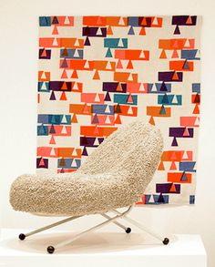 MID-CENTURIA : Art, Design and Decor from the Mid-Century and beyond: Mathematic Inspired Textiles