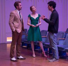 Ryan Gosling, Emma Stone and Damien Chazelle