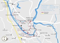 yulong river rafting and biking map