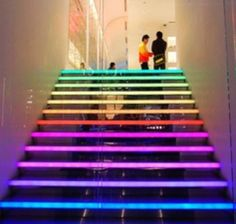 neon coloured Stairs