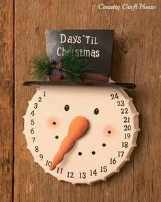 cute snowman count down to Christmas. I want this:(((