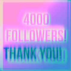 4000 followers! Thank you so much guys keep on being you and I'll keep on pumping out content for you guys to enjoy  . . #graphicdesign #photoshop #design #thankyou #followers #celebrate #grateful #4000 #glitch #pink #blue #distort #trippy #text