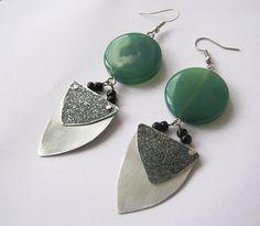 dark aventurine earrings by artfantasyjewellry on Etsy