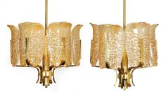 Carl Fagerlund for Orrefors Chandeliers, Pair : Lot 20