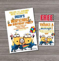 Despicable Me Invitations - Despicable Me Birthday Party Invitation - Despicable Me Party Ideas - My Celebration Shoppe