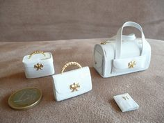 miniature leather luggage by dominosacs on Etsy